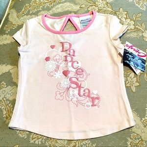 New Capezio Girls Dance Star Pink T-Shirt SZ XS